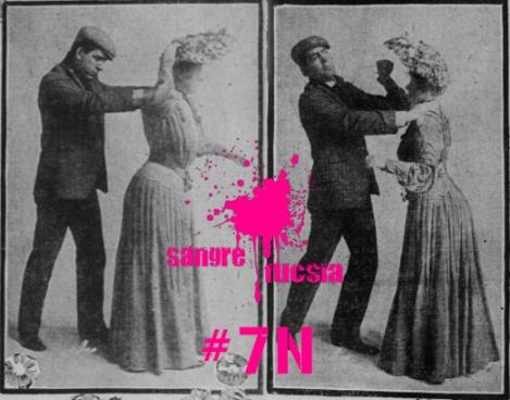 Sangre Fucsia-violencia machista-manifestación-7N
