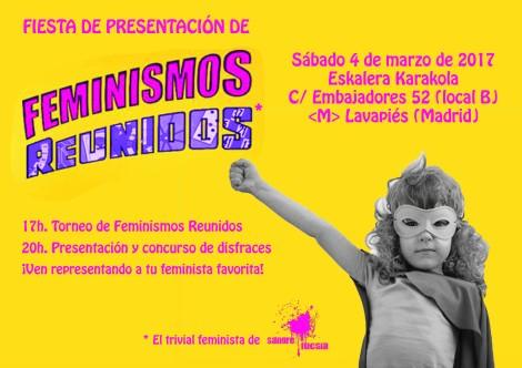 Presentación Feminismos Reunidos 4 de marzo Sangre Fucsia (concurso de disfraces)