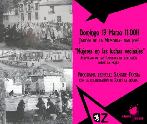 Sangre Fucsia-Mujeres en las luchas vecinales-cartel